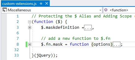 jquery plugin name conflict - mask custom