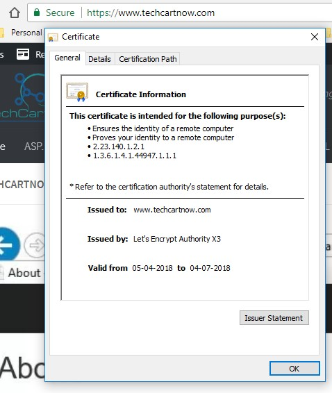 Getting & Installing Free SSL Certificate On Your Site