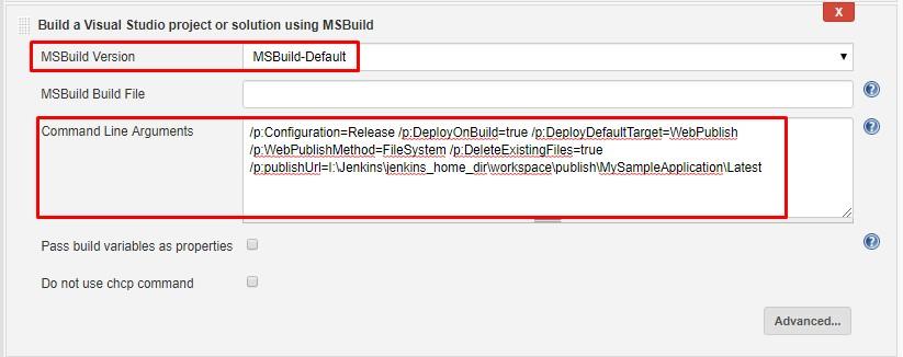 Configure - Build a Visual Studio project or solution using MSBuild