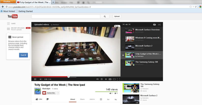 Redesigned Youtube