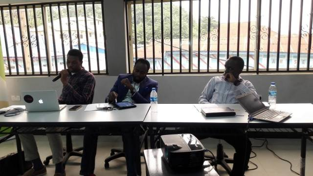 L-R: Efeturi Money from E Tranzact, Tunde Onilu from Solo Phone and Damola Anjorin.