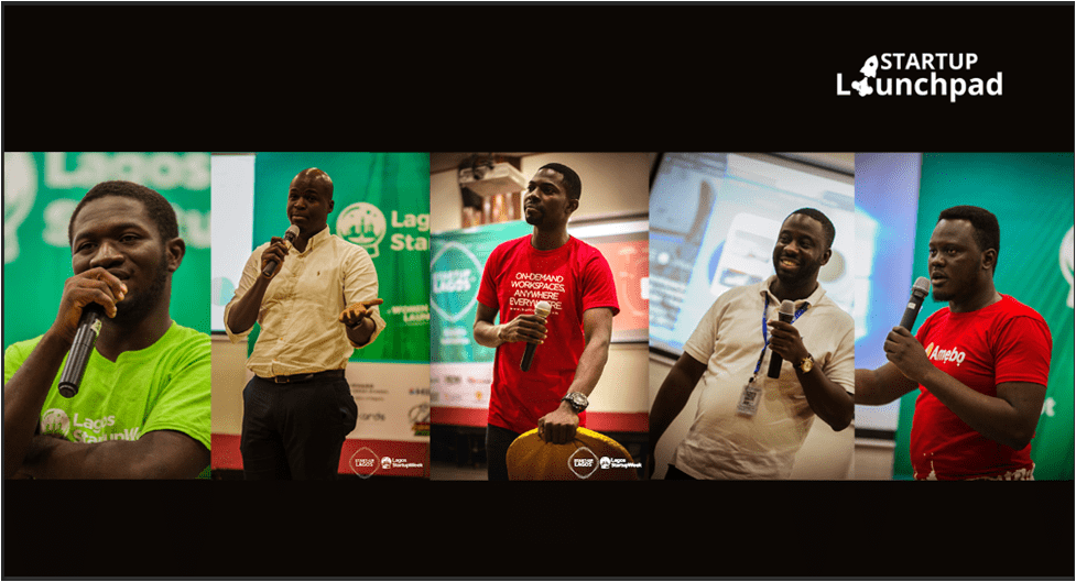 (L-R) Convener. Lagos Startup week Olumide Olayinka and some startup owners at the just concluded Lagos Startup Week 2016