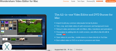 Wondershare Video Editor for Mac VS iMovie