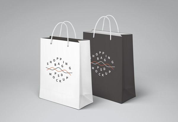 24 Free Shopping Bag Mockup PSD TechClient