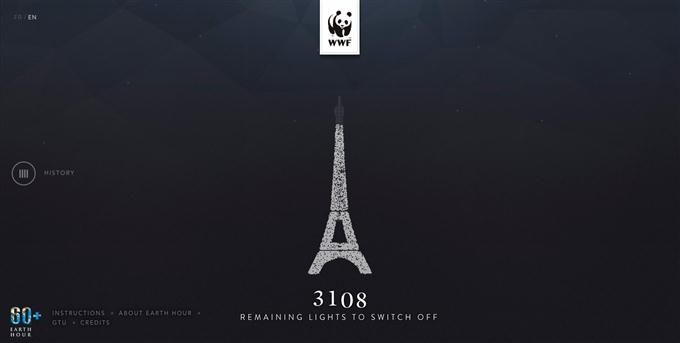 WWF Earth Hour Paris Custom TechClient