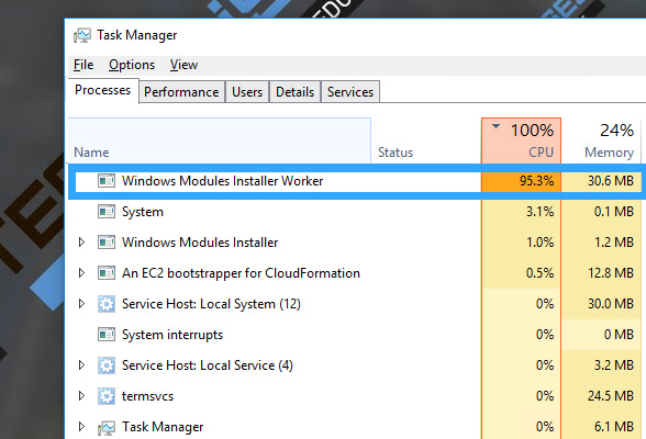 How to disable Windows Modules Installer Worker in Windows 10?