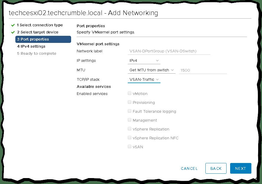 Creating and Managing Custom TCP/IP Stack in VMware