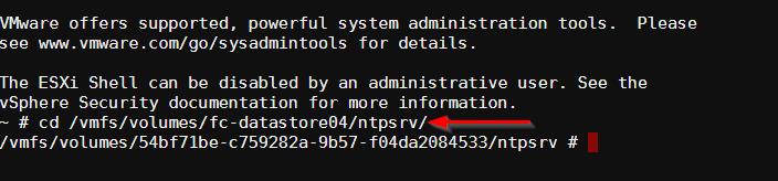 Virtual Machine is not responding: Change Directory