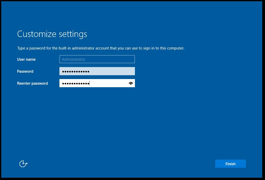 Enter Administrator Password