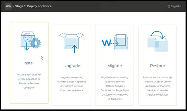 vCenter Server 6.7 : Install