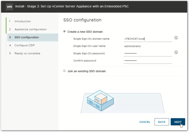 vCenter Server 6.7 : SSO Domain
