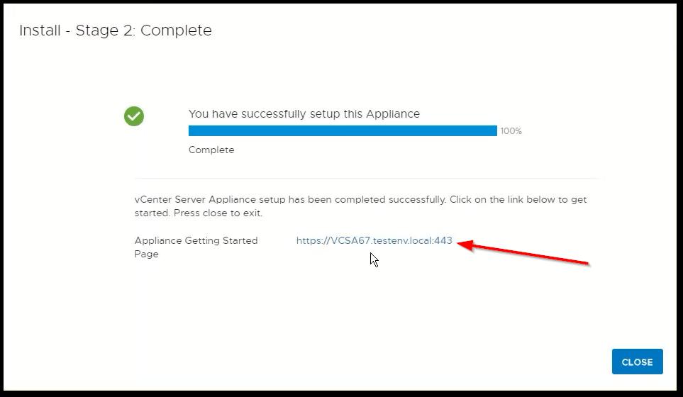 vCenter Server 6.7 : Done