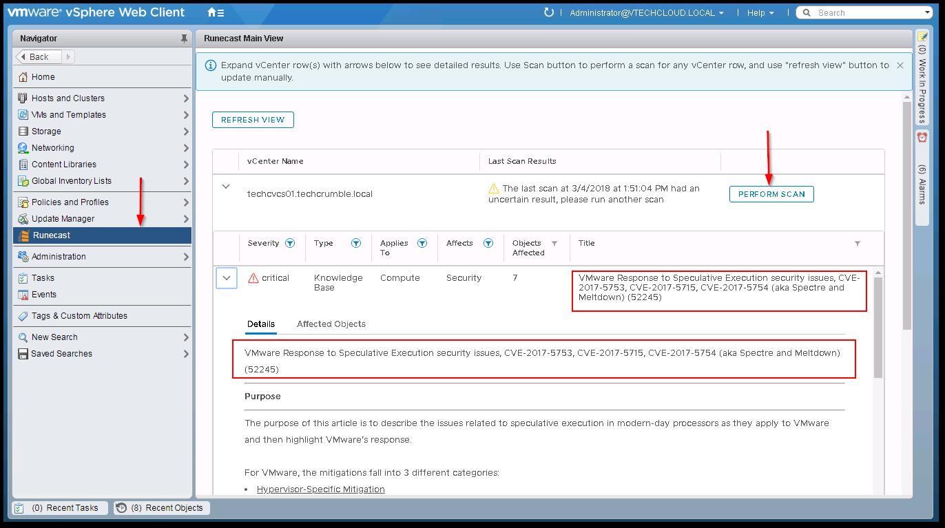 Web Client Details tab