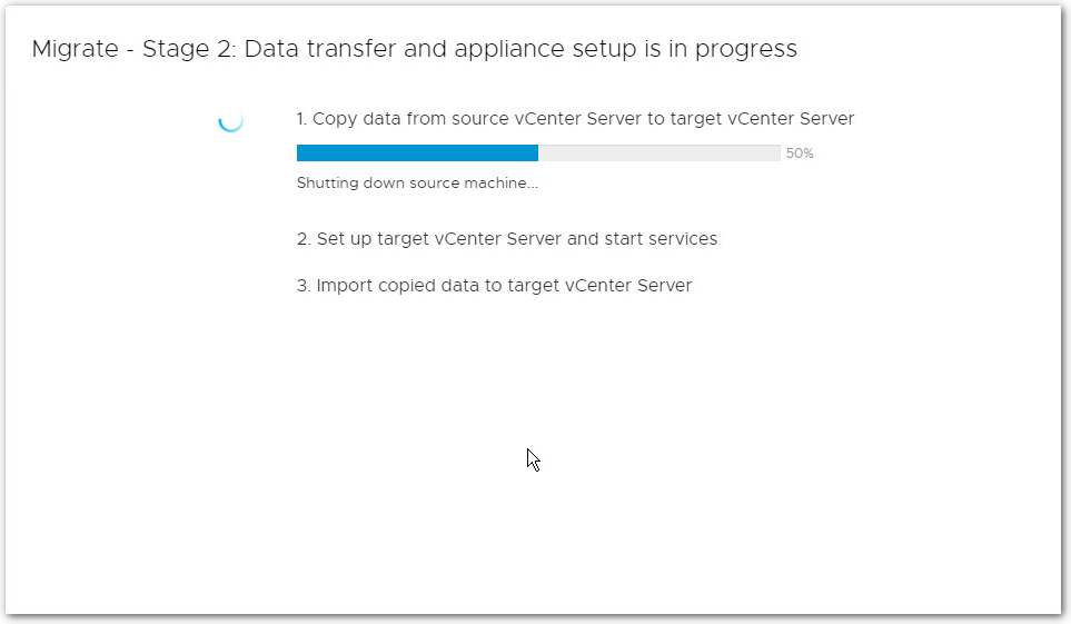 Migrate Windows Based vCenter Server to VCSA 6.7 : Three steps 1