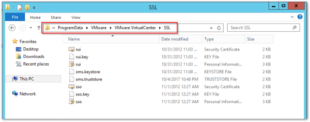 distributed Windows based vCenter Server 5.5 to an embedded VCSA 6.5 : SSL Location