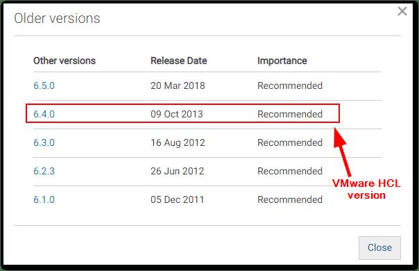 ESXi Compatibility Checker : Dell latest