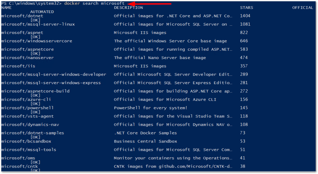 Windows Server 2019 Generally Available: Available Docker Images