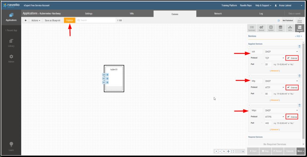 Kubernetes Cluster On Oracle Ravello : Create VMs