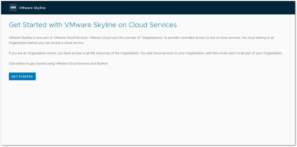 Token For VMware Skyline Collector : Get Started