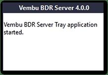 Vembu BDR v4 : Tray Icon