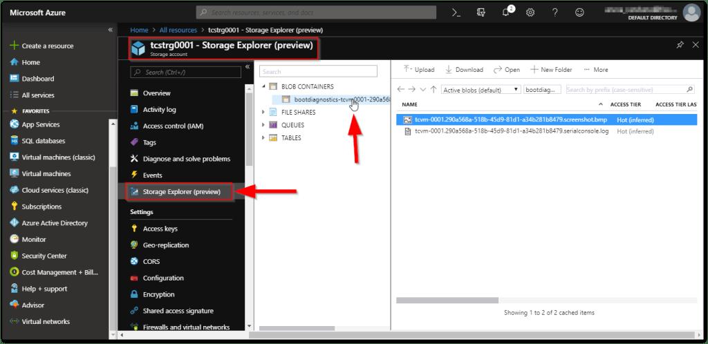 Microsoft Azure Storage Explorer : Cloud Preview