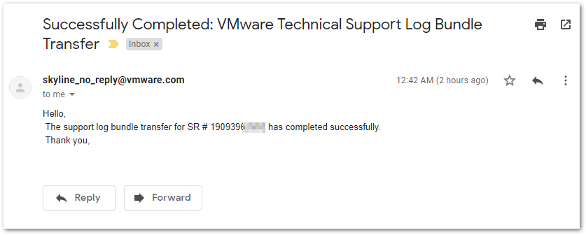 How To Initiate A Log Transfer From VMware Skyline