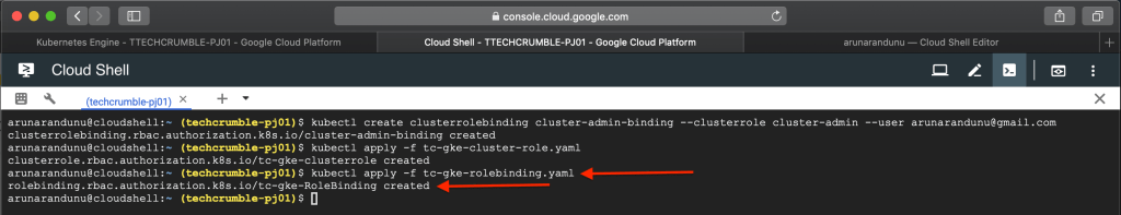 Kubernetes Engine POD Security Policies : apply role binding