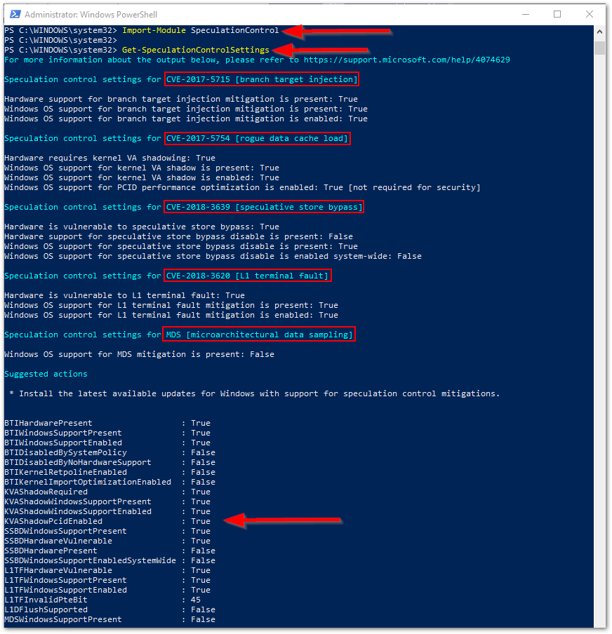 Check Vulnerable Status For Windows Systems Get the Status
