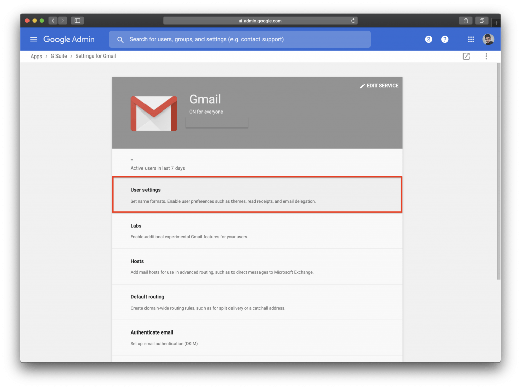Gmail Confidential Mode : User settings