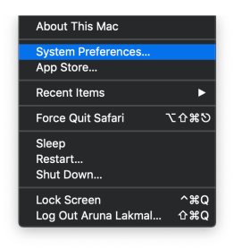Could Not Open /dev/vmmon: Broken Pipe go to system preferences