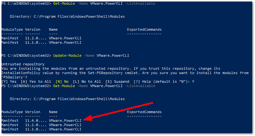 PowerCLI 11.4.0 And VMware vSAN 6.7 U3 update modules