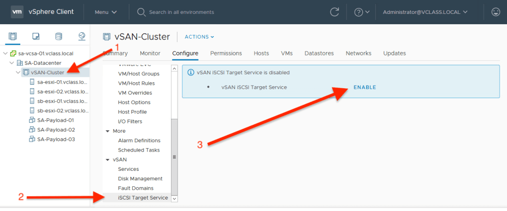 How To Configure VMware vSAN iSCSI Target Service On vSphere