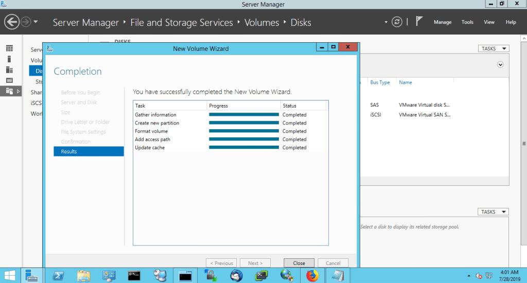 VMware vSAN iSCSI Target Service Complete Disk Management