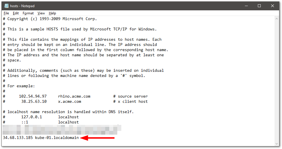 install kubectl on Windows host record
