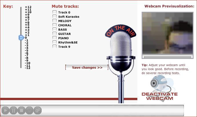 RedKaraoke interfaco