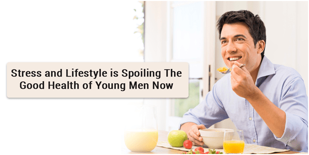 Stress and Lifestyle is Spoiling The Good Health of Young Men Now