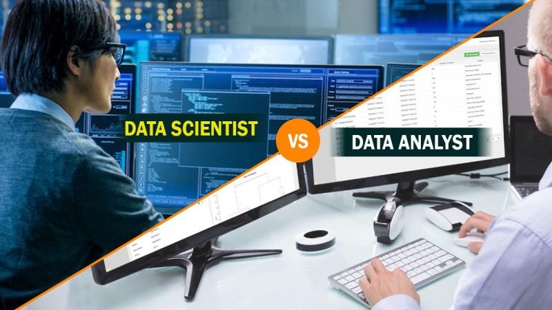 Data analyst versus data scientist