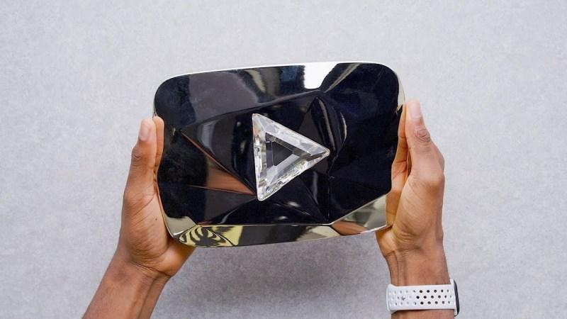 Diamond button on YouTube