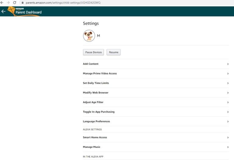 amazon freetime screenshot