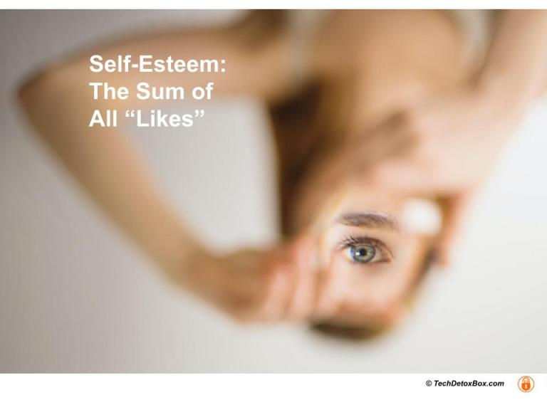 self esteem the sum of all likes