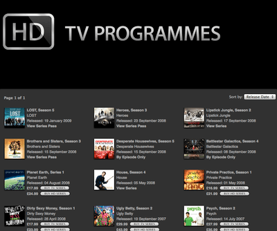 iTunes UK gets a high definition boost: new TV shows arrive