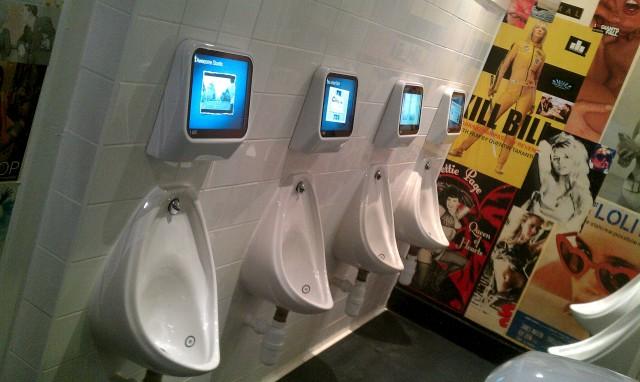 Captive Media toilet