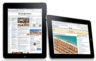 iPad running Safari