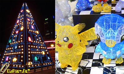 Pac-Man Christmas tree and Pokemon decorations - Tech Digest
