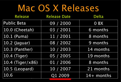 mac os x 11 release date