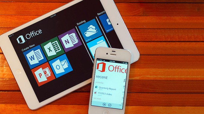 MS office running on non-Microsoft devices.