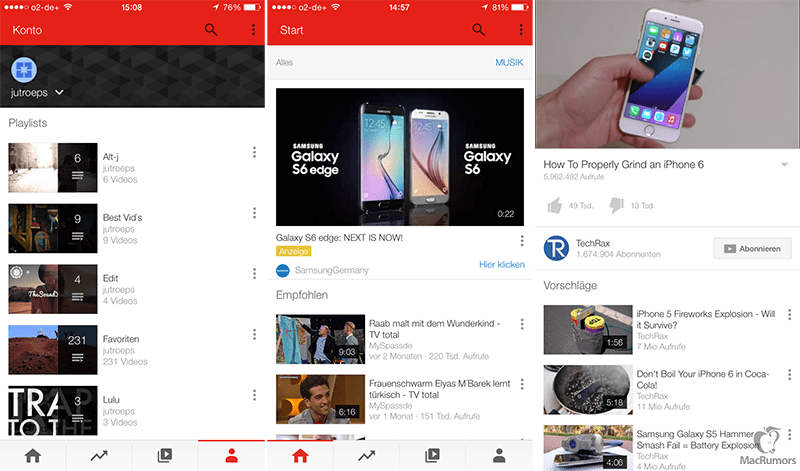 YouTube testing new look desktop player and iOS app - Tech