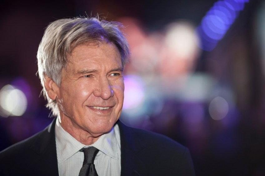 LONDON, UK - DECEMBER 16: Actor Harrison Ford attends the European Premiere of the highly anticipated Star Wars: The Force Awakens in London on December 16, 2015.