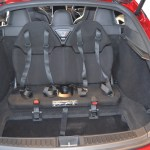 These rear facing seats are great for younger children and can be folded away neatly if you need the boot space