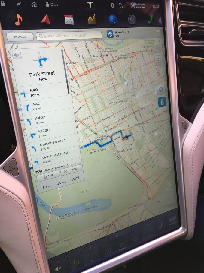 The extremely large 17inch display can be used to control just about every aspect of the car
